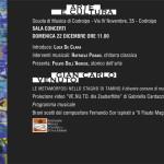 Domenica 22 DICEMBRE ORE 11.00: evento di arte e musica con l'artista GIANCARLO VENUTO