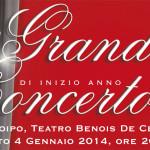 GRANDE CONCERTO DI INIZIO ANNO Codroipo, Teatro Benois De Cecco – Sabato 4 gennaio 2014 ore 20:45