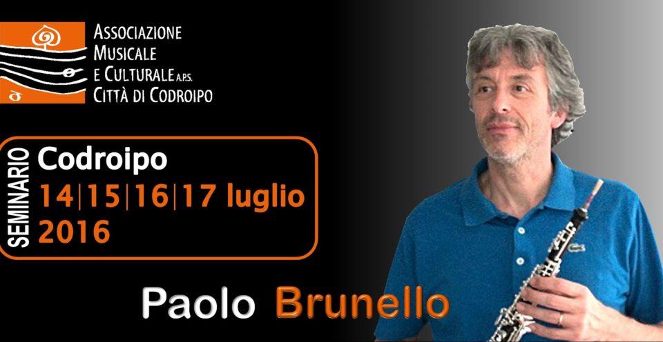 14-17 luglio: seminario oboe con Paolo Brunello