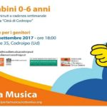 NATI PER LA MUSICA: serata di presentazione del corso mercoledì 13 settembre 2017 ore 18.00