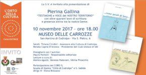 10 novembre 2017 ore 18 – museo delle Carrozze: serata dedicata all'autrice Pierina Gallina con la partecipazione del Coro 5