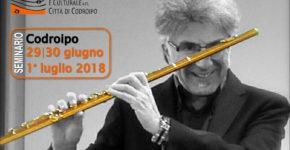 Da venerdì 29 giugno a domenica 1° luglio 2018: seminario di flauto con Claudio Montafia
