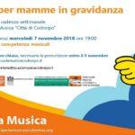"""7 novembre  2018 ore 19.00 – NATI PER LA MUSICA presentazione """"Percorsi per mamme in gravidanza"""""""