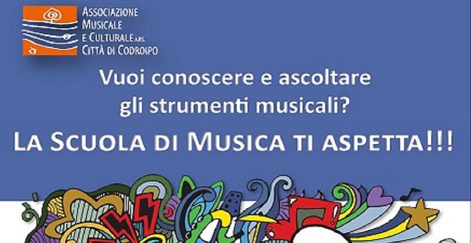 Sabato 16 novembre dalle ore 14:30 presso la Scuola di Musica:  Presentazione strumenti